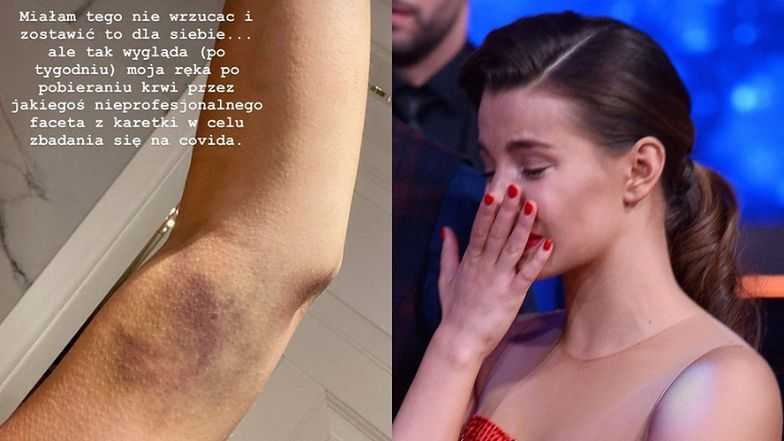 """Zdegustowana Julia Wieniawa chwali się SINIAKIEM po teście na koronawirusa: """"SUPER, CO?"""" (FOTO)"""