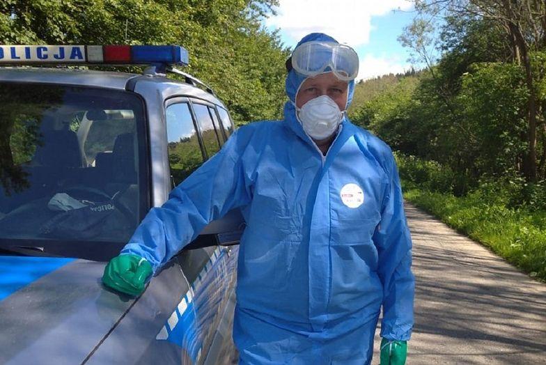 Koronawirus w Małopolsce. Wizyta policjantów uratowała mężczyźnie życie