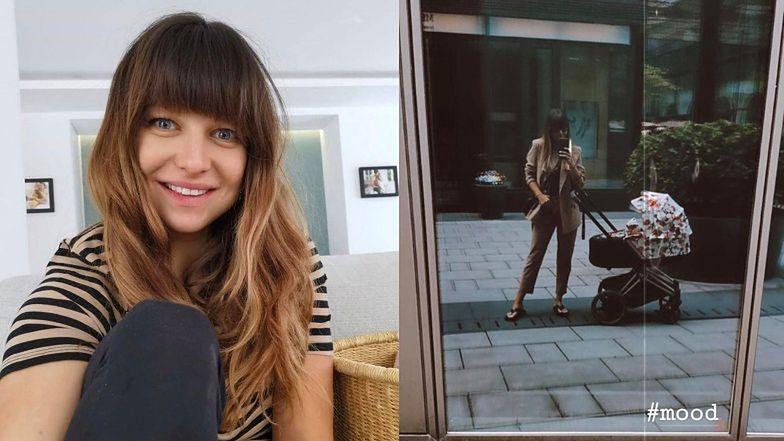 """Spełniona Anna Lewandowska pokazała zdjęcie ze spaceru z Laurą. Jej wózek kosztuje """"skromne"""" 5500 złotych (FOTO)"""