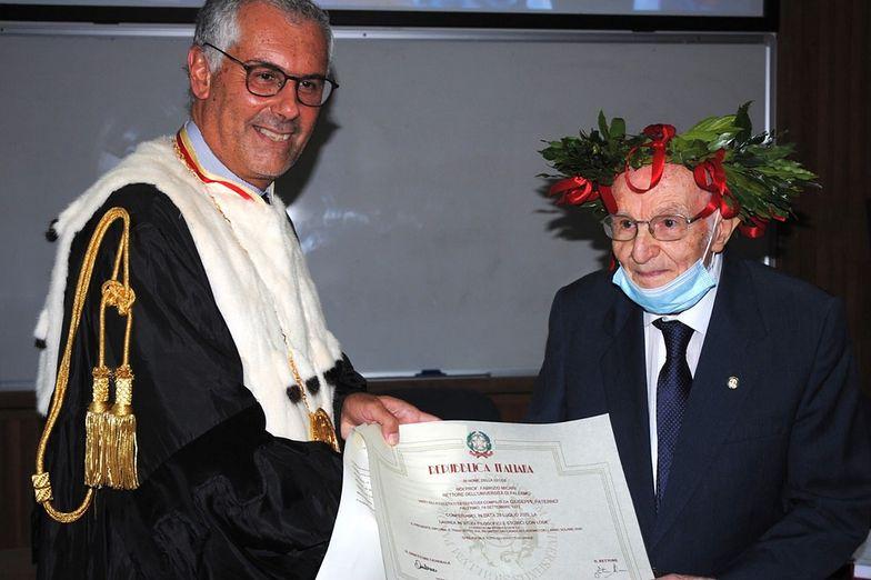 96-latek z Włoch pobił rekord. Został najstarszym absolwentem uniwersytetu