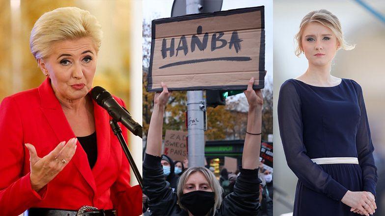 """Protesty po wyroku TK. Polacy pytają: """"Gdzie są Agata Kornhauser-Duda i Kinga Duda?"""""""