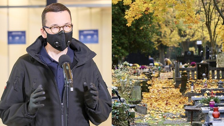"""Mateusz Morawiecki informuje o ZAMKNIĘCIU CMENTARZY: """"Tradycja jest mniej ważna niż życie"""""""