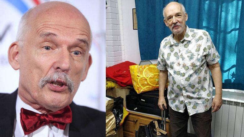 """Ananasowy Janusz Korwin-Mikke ogłasza, że wyjeżdża do Gwatemali. """"Tam rząd NIE WALCZY z koronawirusem"""""""