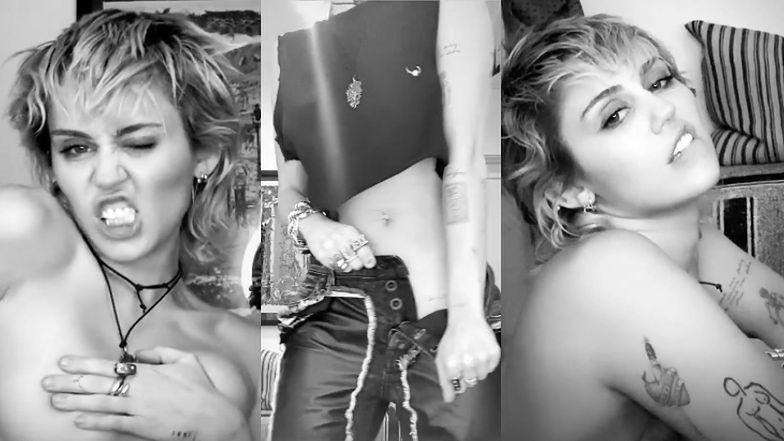 Wyzwolona Miley Cyrus afirmuje bycie singielką, ROZBIERAJĄC SIĘ przed telefonem (WIDEO)
