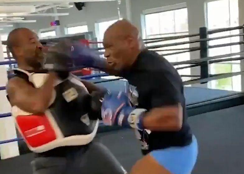 Ależ forma dawnego mistrza! Mike Tyson niemal powalił swojego trenera (wideo)
