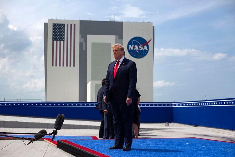 Radość Donalda Trumpa została wyśmiana przez rzecznika rosyjskiej agencji kosmicznej.