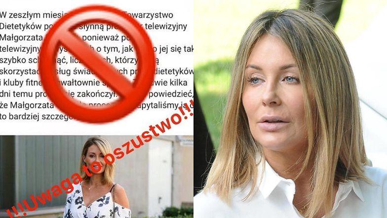 """Rzetelna Małgorzata Rozenek demaskuje internetowych oszustów i ostrzega: """"NIE DAJCIE SIĘ NABRAĆ"""""""