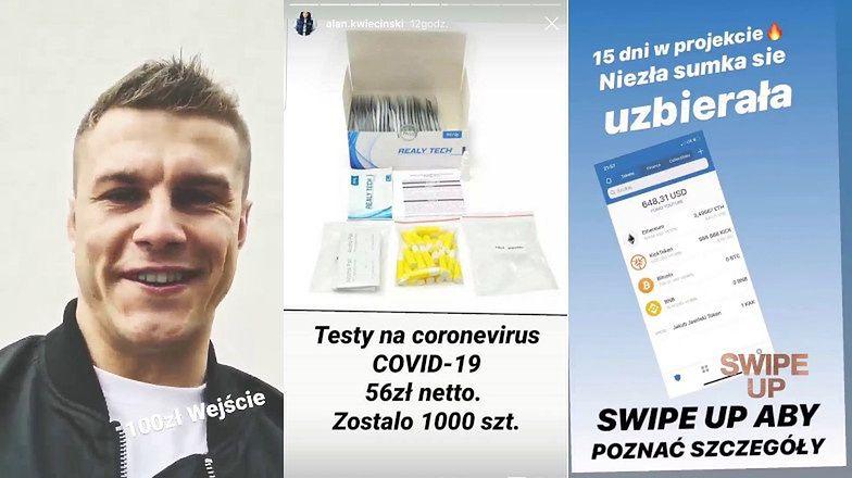 """Alan z """"Warsaw Shore"""" sprzedaje CHIŃSKIE TESTY na koronawirusa i... promuje PIRAMIDĘ FINANSOWĄ?!"""