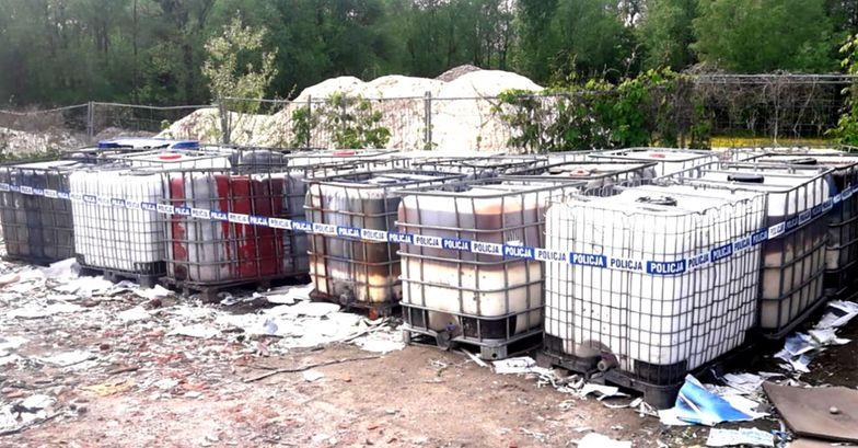 Nielegalne składowisko odpadów chemicznych w woj. mazowieckim
