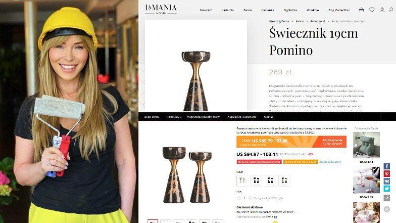 """Joanna Przetakiewicz sprzedaje PODRÓBKI luksusowych dodatków do wnętrz? """"Podobieństwo jest uderzające"""""""