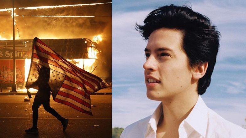 """Gwiazdor """"Riverdale"""" został ARESZTOWANY podczas protestów w USA. """"Zamieszki i grabieże SĄ UZASADNIONE"""""""