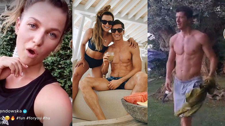 Rozgrzana Anna Lewandowska chwali się imponującą muskulaturą Roberta. Jest czego pozazdrościć? (FOTO)