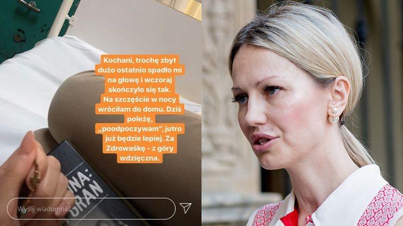 """Magdalena Ogórek z RÓŻAŃCEM W DŁONI prosi o """"zdrowaśkę"""" ze szpitalnego łóżka: """"Mam na głowie więcej niż NIEJEDEN FACET"""""""