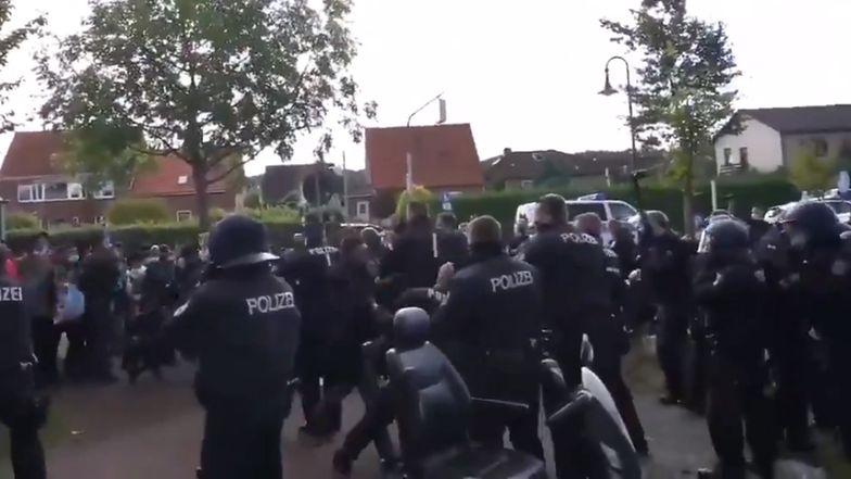 Zatrzymali pociąg pod Hamburgiem. Na miejsce wezwano 200 policjantów