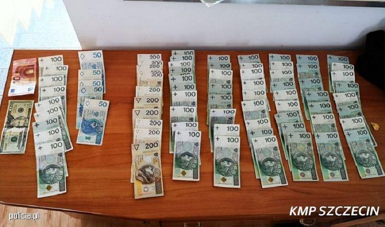 Szczecin. Policja zabezpieczyła sporą ilość skradzionej gotówki