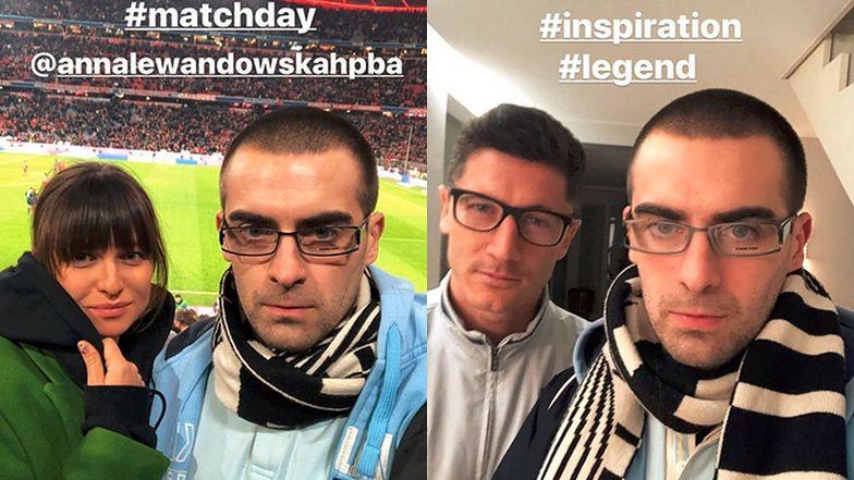"""Nowy-stary Quebonafide pozuje do selfie z Lewandowskimi: """"Inspiracja, legenda"""""""