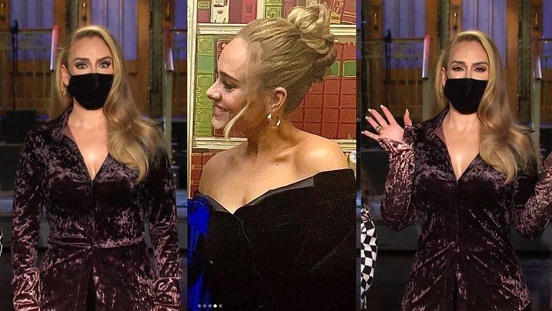 """Odmieniona Adele prezentuje efekty metamorfozy w zapowiedzi odcinka """"SNL"""" (WIDEO)"""