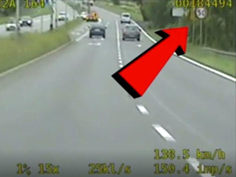 Kierowca jechał 135 km/h. Powód zaskoczył nawet policjantów