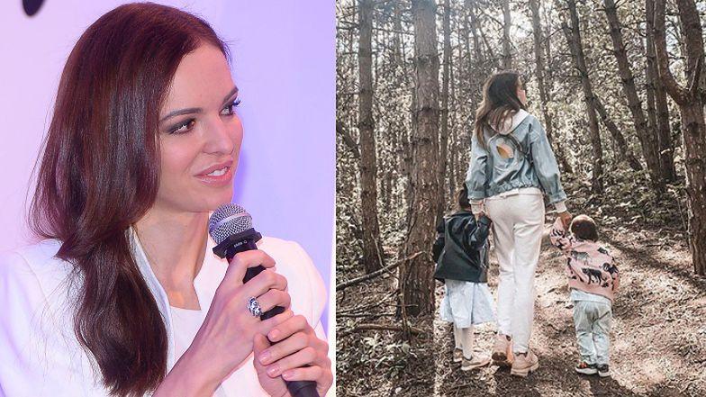 """Pełna obaw Anna Wendzikowska chwali się wyjściem do parku: """"TROCHĘ MNIE STRESUJE TO WSZYSTKO"""" (FOTO)"""