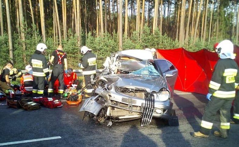 Tragedia na A4 pod Opolem. Mercedesem jechała cała rodzina