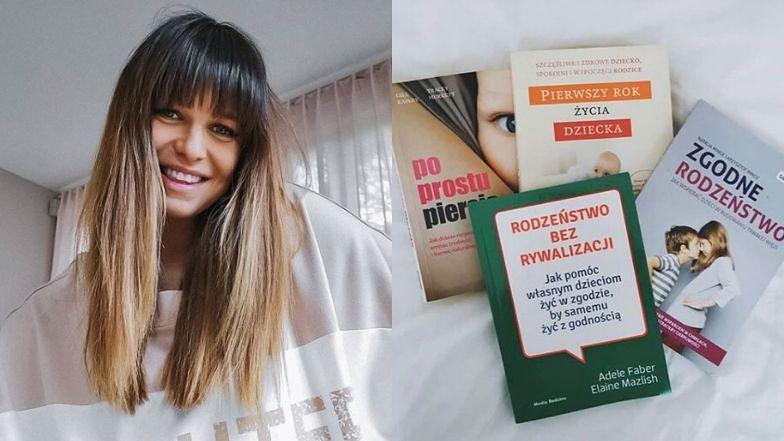 Anna Lewandowska chwali się ulubionymi lekturami. Wśród nich poradniki o karmieniu piersią i ZGODNYM RODZEŃSTWIE (FOTO)