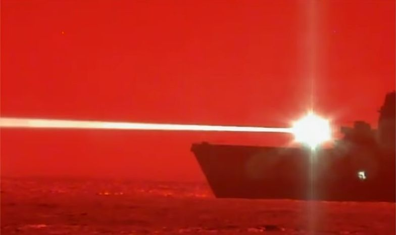 Okręt US Navy zestrzela drona za pomocą broni laserowej