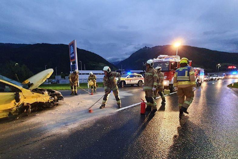 Wypadek Polaków w Austrii. Wszyscy byli kompletnie pijani