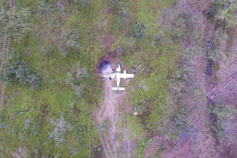 Samolot wypełniony kokainą rozbił się podczas startu