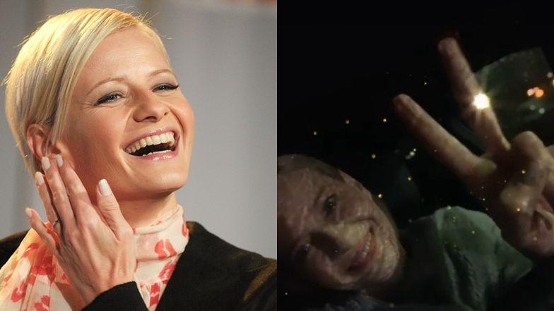 """Uśmiechnięta Małgorzata Kożuchowska uspokaja fanów po kolizji: """"Jestem cała i zdrowa, MÓJ KOCUR TEŻ"""""""