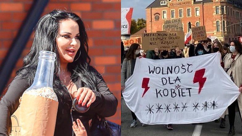 """Opętana chęcią zaistnienia Esmeralda Godlewska ATAKUJE Polki manifestujące na ulicach: """"Piep**yć wasz protest!"""""""