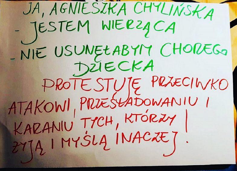 Strajk kobiet. Agnieszka Chylińska na chore dzieci. Zabrała głos