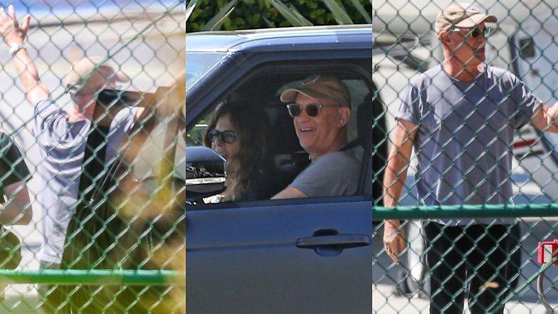 Szczęśliwy Tom Hanks wita ojczyznę po kwarantannie w Australii (ZDJĘCIA)