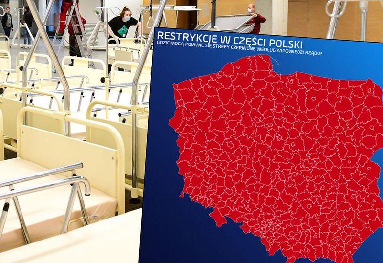 """Nowa mapa restrykcji namiesza. Polska wielką """"czerwoną strefą"""""""
