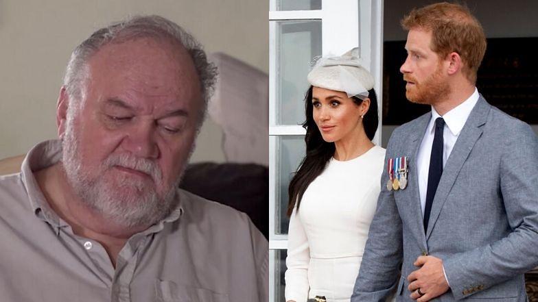 """Ckliwy Thomas Markle rozprawia przed kamerami o ślubie Meghan i Harry'ego: """"Zazdrościłem księciu Karolowi, PŁAKAŁEM"""""""