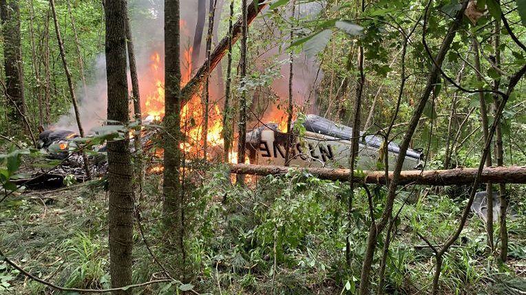 Wrak samolotu w lesie w stanie Georgia.