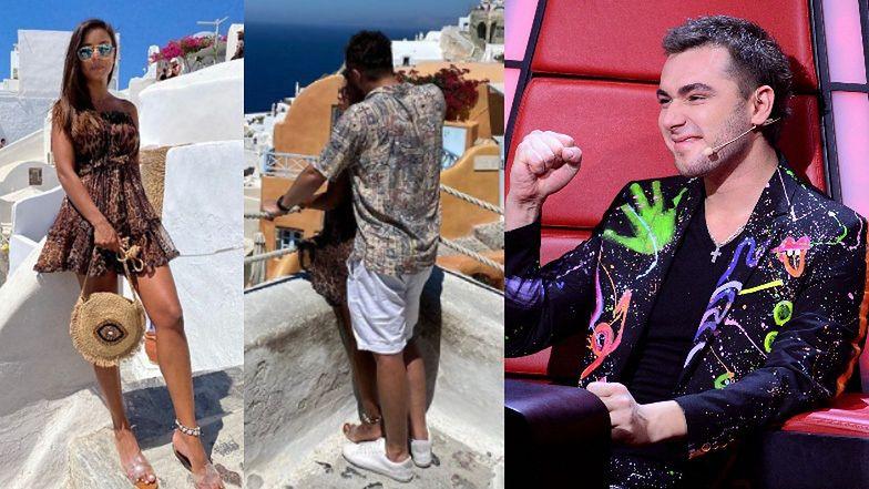 Czuły Kamil Bednarek obejmuje swoją UKOCHANĄ na Santorini (FOTO)