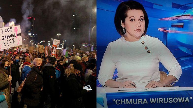 """Strajk Kobiet przeszedł przez Warszawę. Tymczasem w TVP: """"Nad demonstrantami unosi się CHMURA WIRUSOWA"""""""