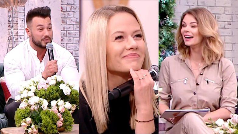 Kasia Dziurska i Emilian Gankowski wygadali się w śniadaniówce, że STARAJĄ SIĘ O DZIECKO! Celebrytka nie była zachwycona...