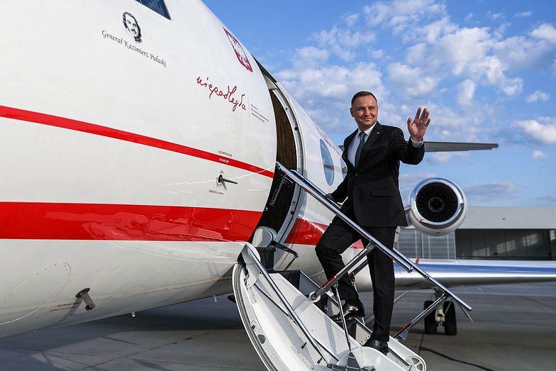 Andrzej Duda wylądował w USA. O której spotkanie z Donaldem Trumpem? Plan wizyty