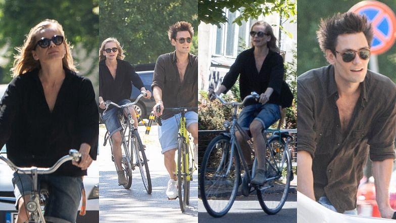 Magdalena Cielecka i Bartosz Gelner relaksują się na rowerowej przejażdżce