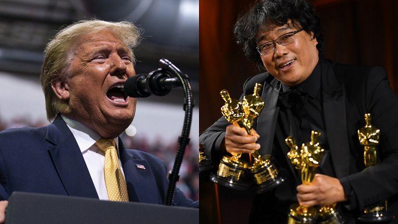 """Donald Trump WYŚMIEWA """"Parasite"""" i Brada Pitta na politycznym wiecu: """"Nigdy go nie lubiłem""""!"""