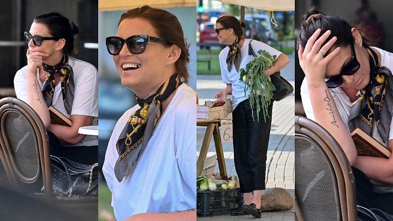 Ilona Felicjańska rozmyśla w kawiarni i szaleje przy zakupie warzyw i owoców