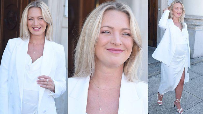 Promienna Barbara Kurdej-Szatan w bieli wspiera kampanię Joanny Przetakiewicz (ZDJĘCIA)
