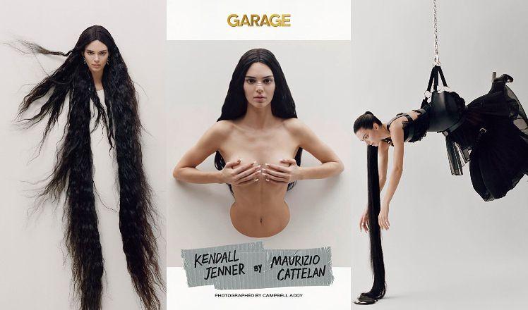 """Upiorna Kendall Jenner w sesji dla magazynu """"Garage"""" inspirowanej japońskimi horrorami. Piękna? (ZDJĘCIA)"""