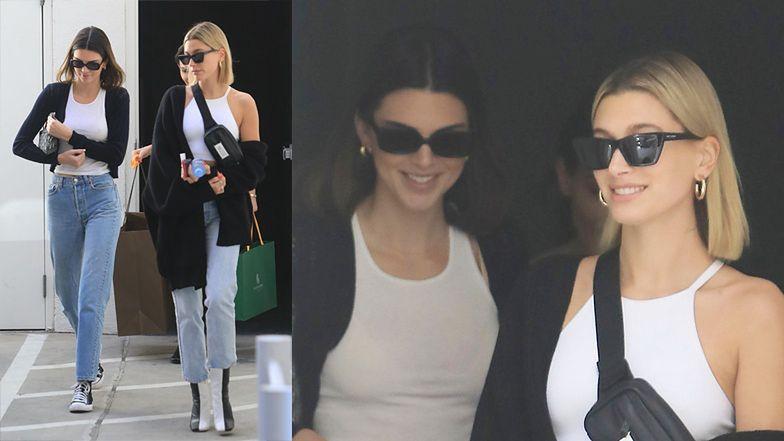 """Hailey Bieber i Kendall Jenner buszują po luksusowych sklepach w """"bliźniaczych"""" stylizacjach (ZDJĘCIA)"""