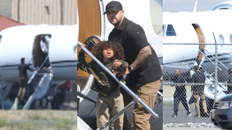 Kanye West OPUŚCIŁ SWOJE RANCZO razem z Kim Kardashian?! Jej samolot wylądował na lotnisku w Wyoming (ZDJĘCIA)