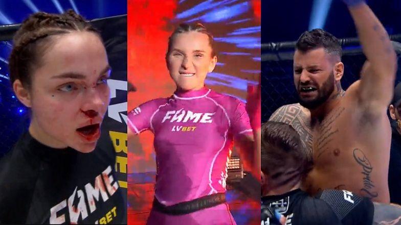 """FAME MMA. Zakrwawiona Zusje i podniecona Linkiewicz: """"Baby się potrafią NA*IERDALAĆ!"""""""