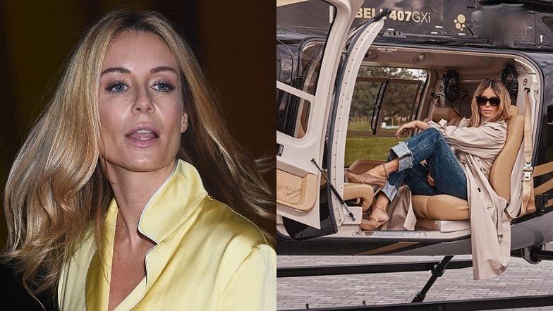 """""""Ekologiczna"""" Małgorzata Rozenek poleca zakupy w second-handach z siedzenia helikoptera. Internauci: """"HIPOKRYZJA"""""""
