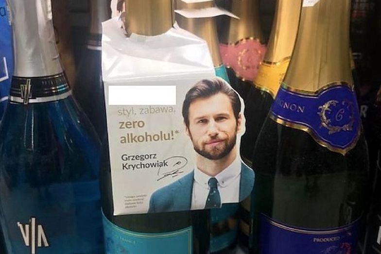 """""""Styl i zabawa"""". Podobizna Grzegorza Krychowiaka na butelce z winem"""