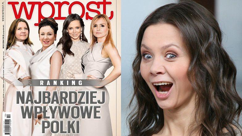 """Kinga """"do hotelu wróciłam o 7"""" Rusin pozdrawia z okładki tygodnika w gronie najbardziej wpływowych Polek (FOTO)"""